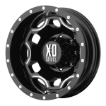 XD☆SERIES XD814 CRUX Gloss Black with Milled Accents