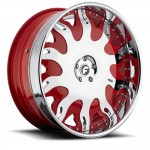 FORGIATO GRASSETTO Chrome/Red Center, Chrome Lip