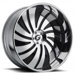 FORGIATO GIRATO-L Black/Chrome Center, Chrome Lip