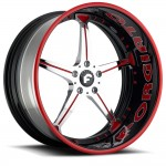 FORGIATO QUINTO Chrome/Black/Red Center, Custom Lip
