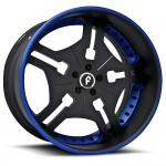 FORGIATO FIA Black/Blue Center, Black/Blue Lip