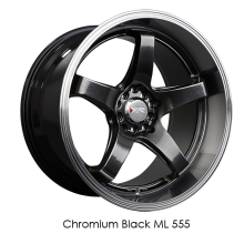 XXR 555 Chromium Black
