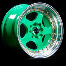 JNC010 Wasabi Green w: Gold Rivets