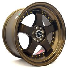 JNC017 Matte Bronze w: Gold Rivets