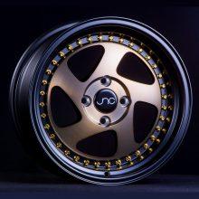 JNC034 Matte Bronze Black Lip Gold Rivets