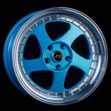 JNC034 Teal Blue Machine Lip Gold Rivets