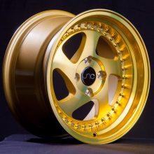 JNC034 Transparent Gold Gold Rivets