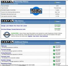 Carfax reports