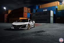 Acura NSX with HRE P201 in Frozen Gold